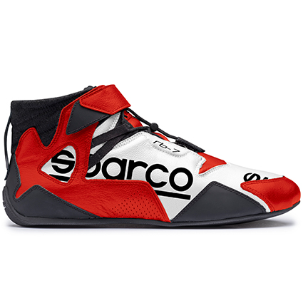 Sparco Apex RB-7 Race Boots White/Red