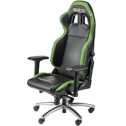 Sparco R100 Vinyl Office Chair Black/Green
