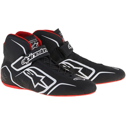 Alpinestars Tech 1-Z Race Boots Black White/Red