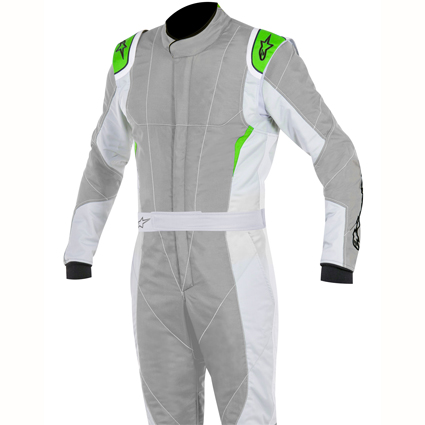 Alpinestars GP Pro Race Suit Grey/Light Grey/Fluro Green