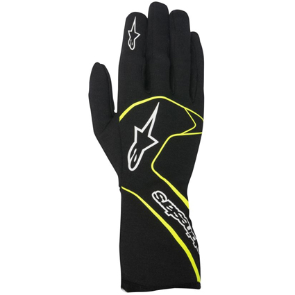 Alpinestars Tech 1 Race Gloves Black Fluro Yellow