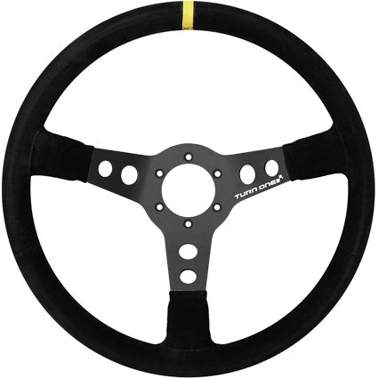 Turn One Nike Steering Wheel Black Suede Black Spokes