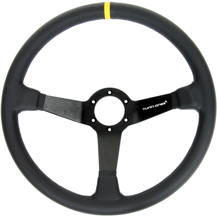 Turn One Off Road Steering Wheel Black Leather