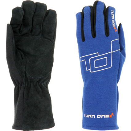 Turn One Basic Race Gloves Blue