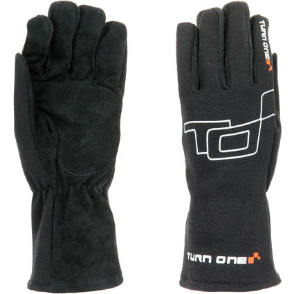 Turn One Basic Race Gloves Black