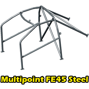 OMP AB/100/253 FE45 Bolt In Roll Cage Citroen C2 3dr X-Brace