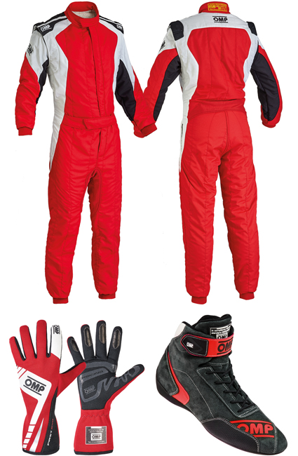 OMP First Evo Red Racewear Package
