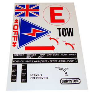 MSA Approved Race & Rally Scrutineer Safety Sticker Sheet