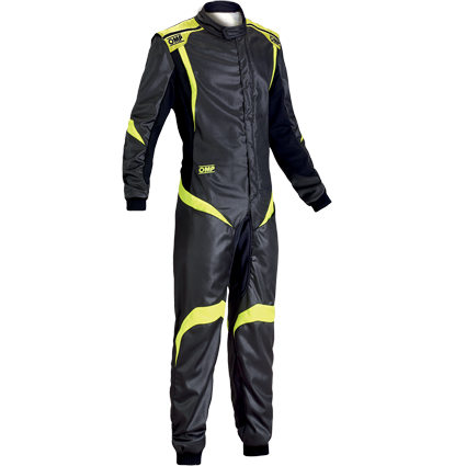 OMP One S1 Race Suit Anthracite/Fluro Yellow