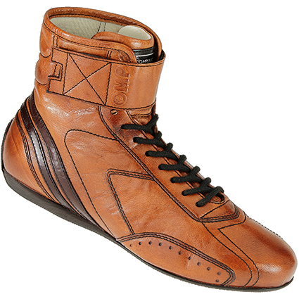 OMP Carrera Race Boots Light Tan