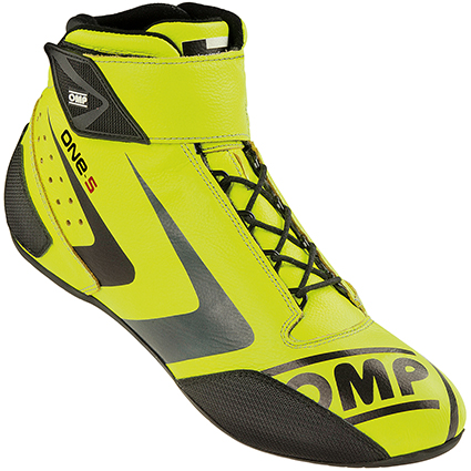 OMP One-S Race Boots Fluro Yellow/Anthracite