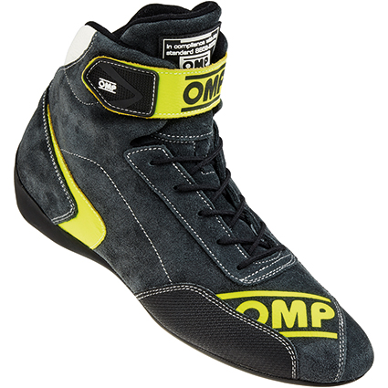 OMP First Evo Race Boots Anthracite/Fluro Yellow