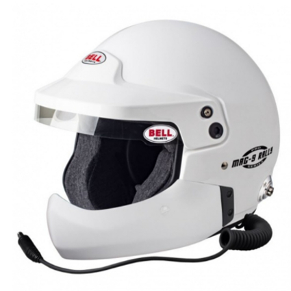 Bell Mag 9 Pro Rally Open Face Helmet with Half Chin Bar White