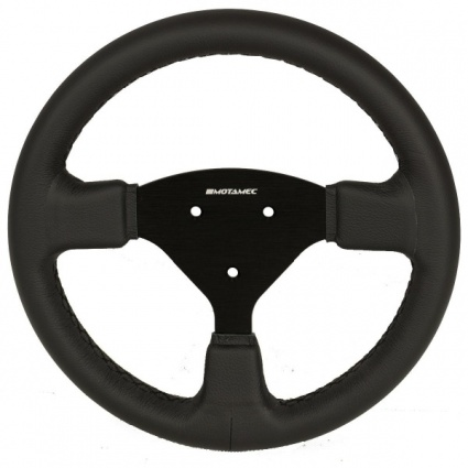 Motamec Formula Race Steering Wheel Small Flat 270mm - Black