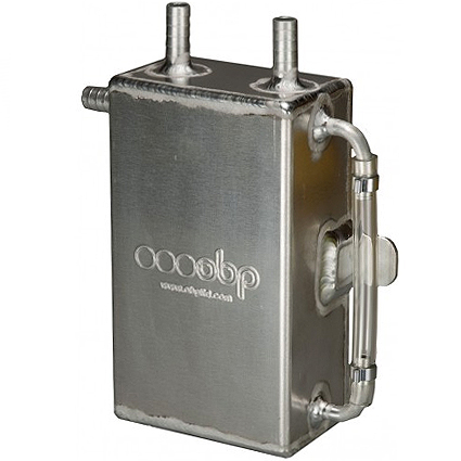 OBP 1 Litre Square Bulkhead Mounted Oil Catch Tank