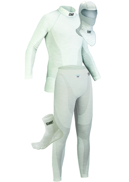 OMP One White Nomex Underwear Package 1 with Ankle Socks
