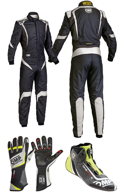 OMP One S1 Black/Fluro Racewear Package