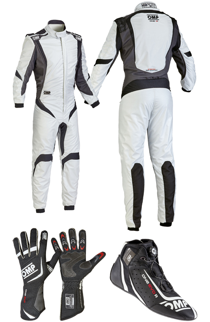OMP One S1 Silver/Black Racewear Package