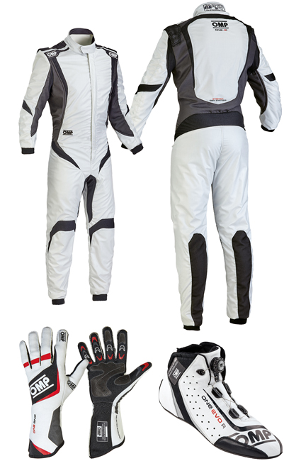 OMP One S1 Silver/White Racewear Package
