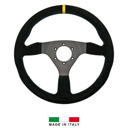 R-Tech 330mm Flat Suede Steering Wheel