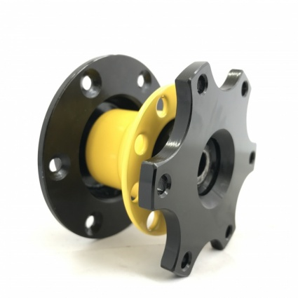 R-Tech Gp.N 6 Bolt Quick Release Hub Black/Yellow