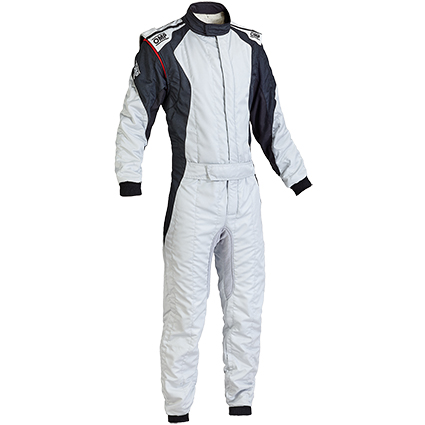 OMP First Evo Race Suit Silver/Black