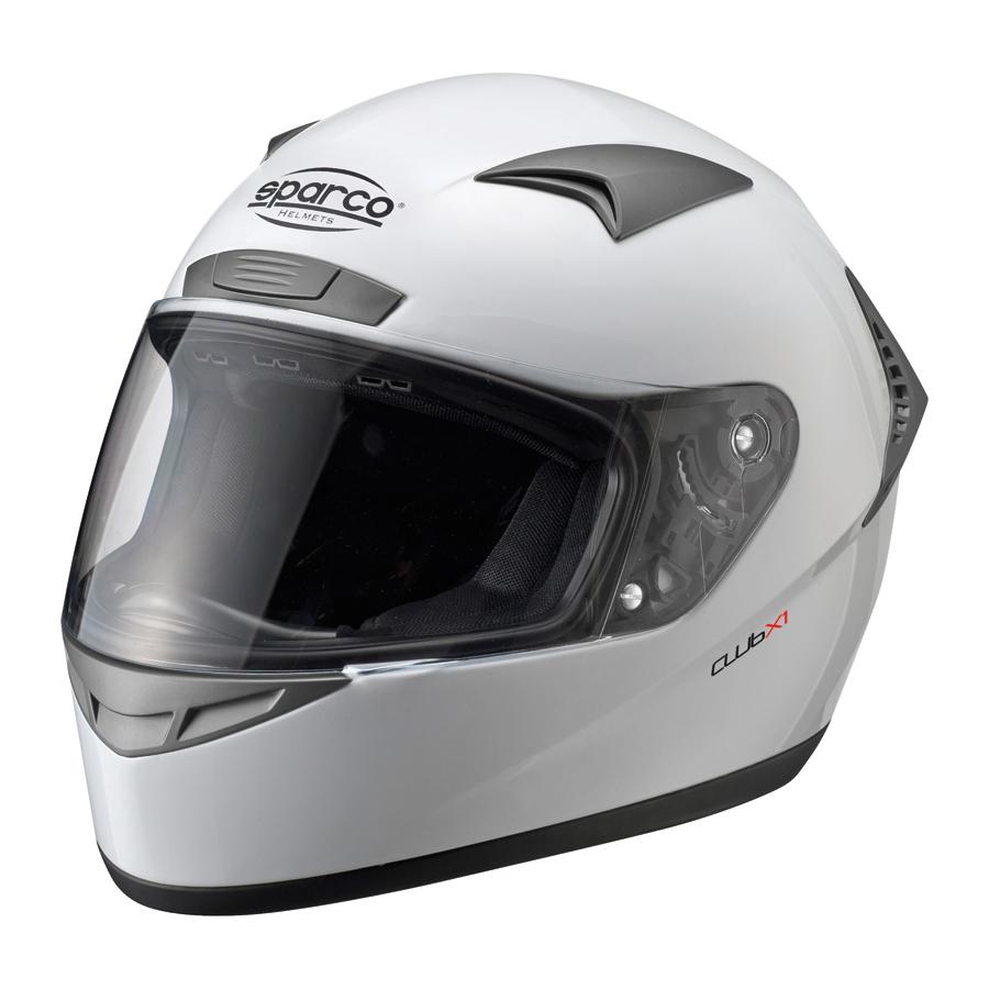 Sparco Club X1 Helmet >> Sparco Club X-1 Helmet White | Sparco X1 Full Face Helmet in White | Sparco Trackday Helmet ...