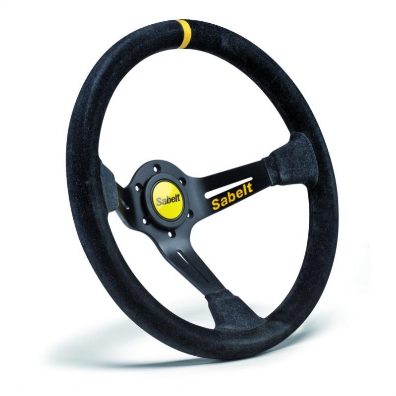 Sabelt Sw 390 Black Suede Steering Wheel Rallynuts