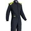 OMP First-S Race Suit Anthracite/Fluro Yellow