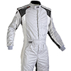 OMP Tecnica Evo Race Suit Grey/White/Black