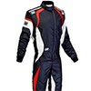 OMP One Evo Race Suit Black/Red/White