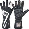 OMP First Evo Race Gloves Black/White