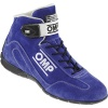 OMP Co Driver Race Boots Blue Suede
