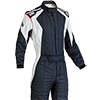 OMP First Evo Race Suit Black/White