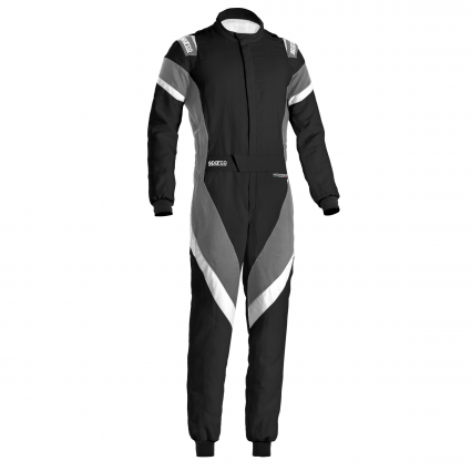 Sparco Victory Race Suit Black/Grey/ White