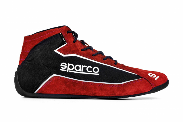 Sparco Slalom + Fabric and Suede Race Boots Red/Black