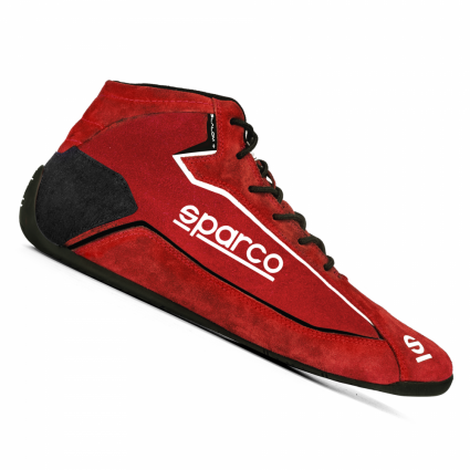 Sparco Slalom + Suede Race Boots Red