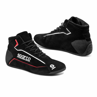 Sparco Slalom + Suede Race Boots Black