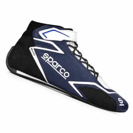 Sparco Skid Race Boots Blue/White