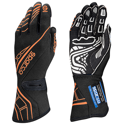 Sparco Lap RG-5 Race Gloves Black/Orange