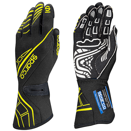 Sparco Lap RG-5 Race Gloves Black/Yellow