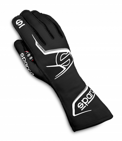 Sparco Arrow Race Gloves Black/White