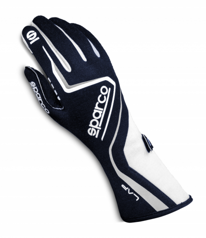 Sparco Lap Race Gloves Blue/White