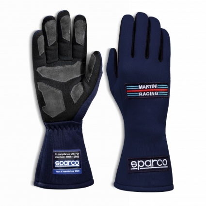 Sparco Martini Land Classic Race Gloves Blue