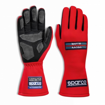 Sparco Martini Classic Race Gloves Red