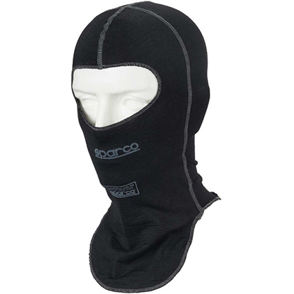 Sparco Shield RW-9 Open Face Balaclava Black XXL