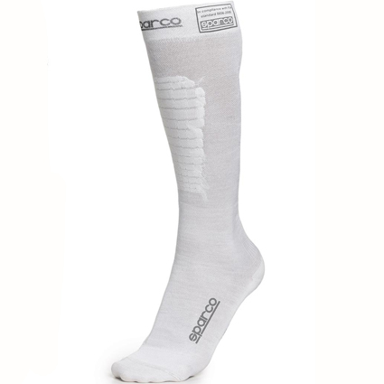 Sparco Flame Resistant Compression Socks White
