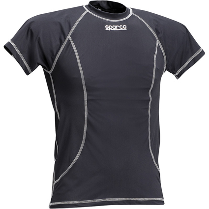 Sparco Basic Short Sleeve Karting Shirt Black