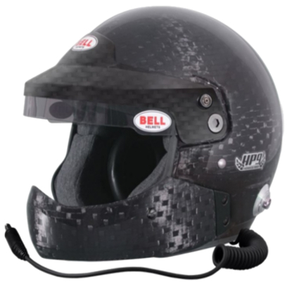 Bell Mag 9 Rally Carbon Open Face Helmet with Half Chin Bar