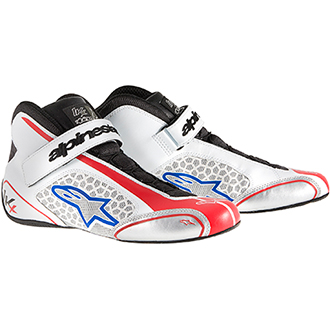 Alpinestars Tech 1-KX Kart Shoes White/Red/Blue Size 38 EUR/5 UK